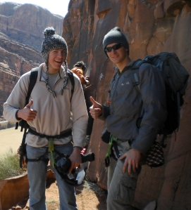 Ben and I gearing up for a climb near Moab, UT