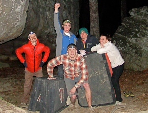 The group after some night bouldering