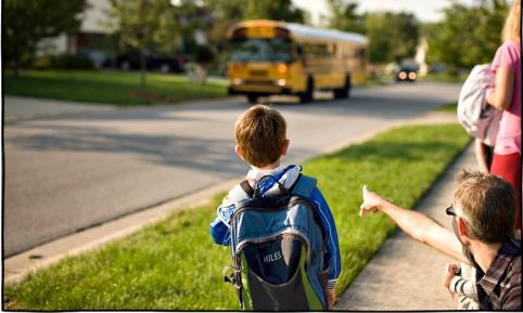 kid bus stop