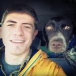 On the road selfie